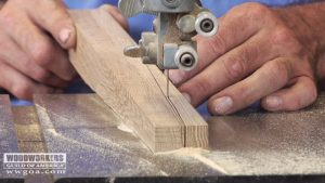 Making Tapered Legs on the Band Saw