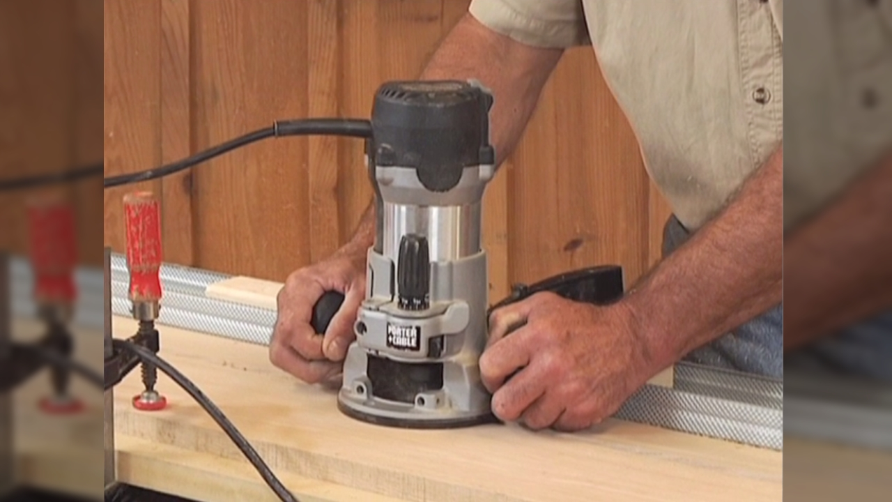 Jointing With A Handheld Router