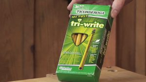 Woodworking Pencil Review - Ticonderoga My First Tri-Write Pencil