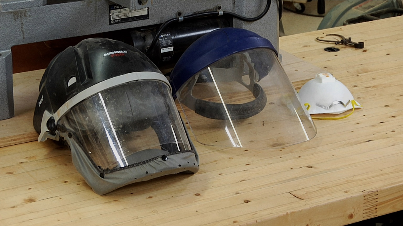 Lathe Safety: Face Shield vs Respirator | WWGOA Woodworking Videos