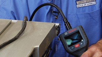 Woodworking Tool Maintenance Using an Inspection Camera