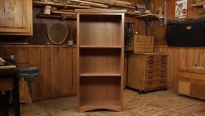 DIY Bookcase: Cherry Bookcase