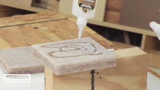 Gluing Countertop Material for Turning
