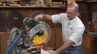 Using a Sacrificial Fence for Precision on a Miter Saw