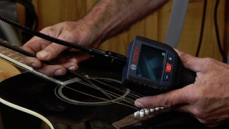 Guitar Repair Using An Inspection Camera