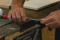 Sharpening a Card Scraper