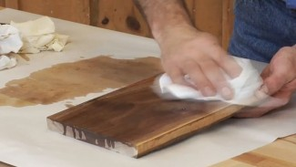 Wet Sanding with Furniture Oil