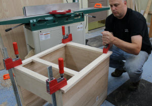 face-frame-clamping