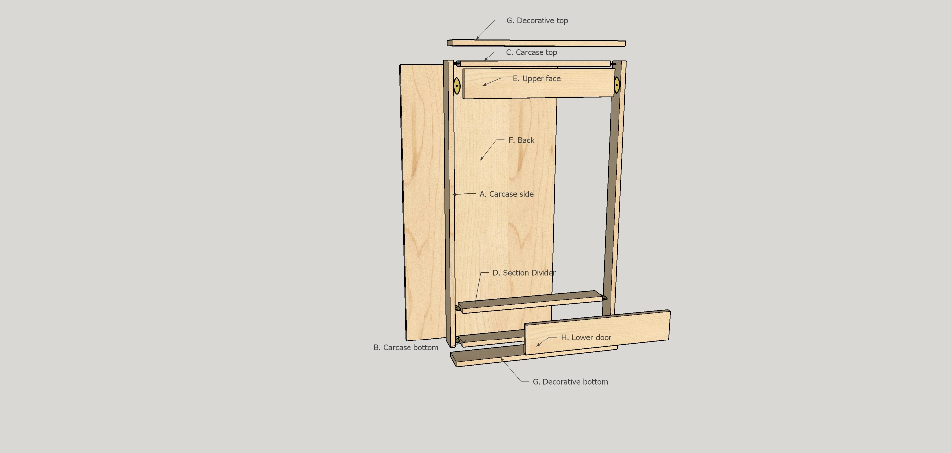 Build a Simple Dartboard Cabinet