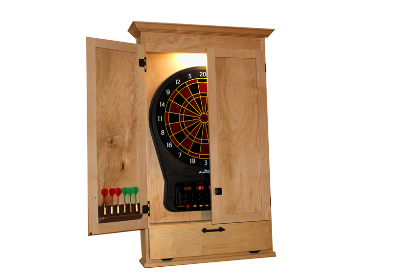 Build a Simple Dartboard Cabinet  sc 1 st  Woodworkers Guild of America : electronic dartboard in cabinet - Cheerinfomania.Com