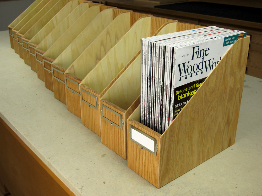 make your own magazine storage box woodworking gift ideas