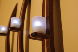 How to make a candle wall sconce from wood votive holders and tea lights mozeypictures Images