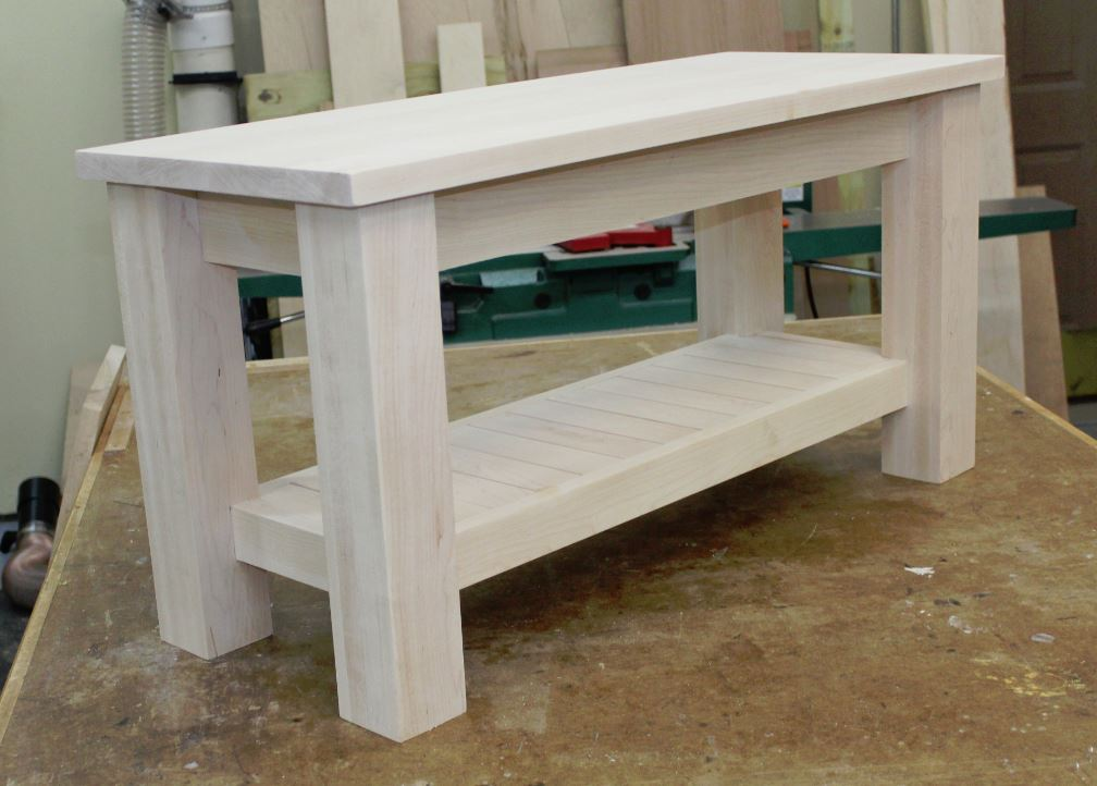 Making A Sturdy Modern Entryway Bench