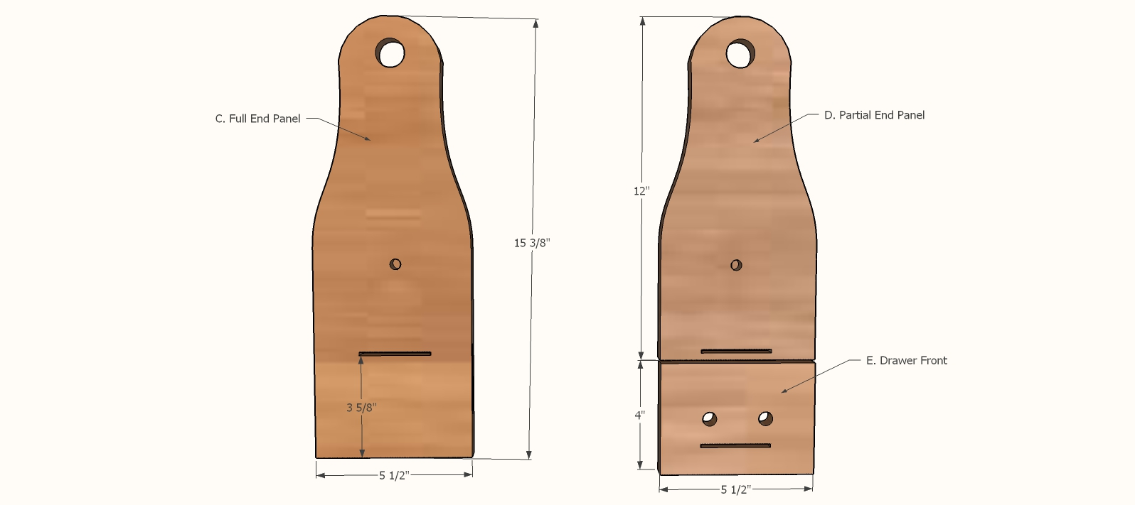 grill caddy end panel templates - 2
