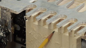 Porter Cable Dovetail Jig: Cutting Through Dovetails