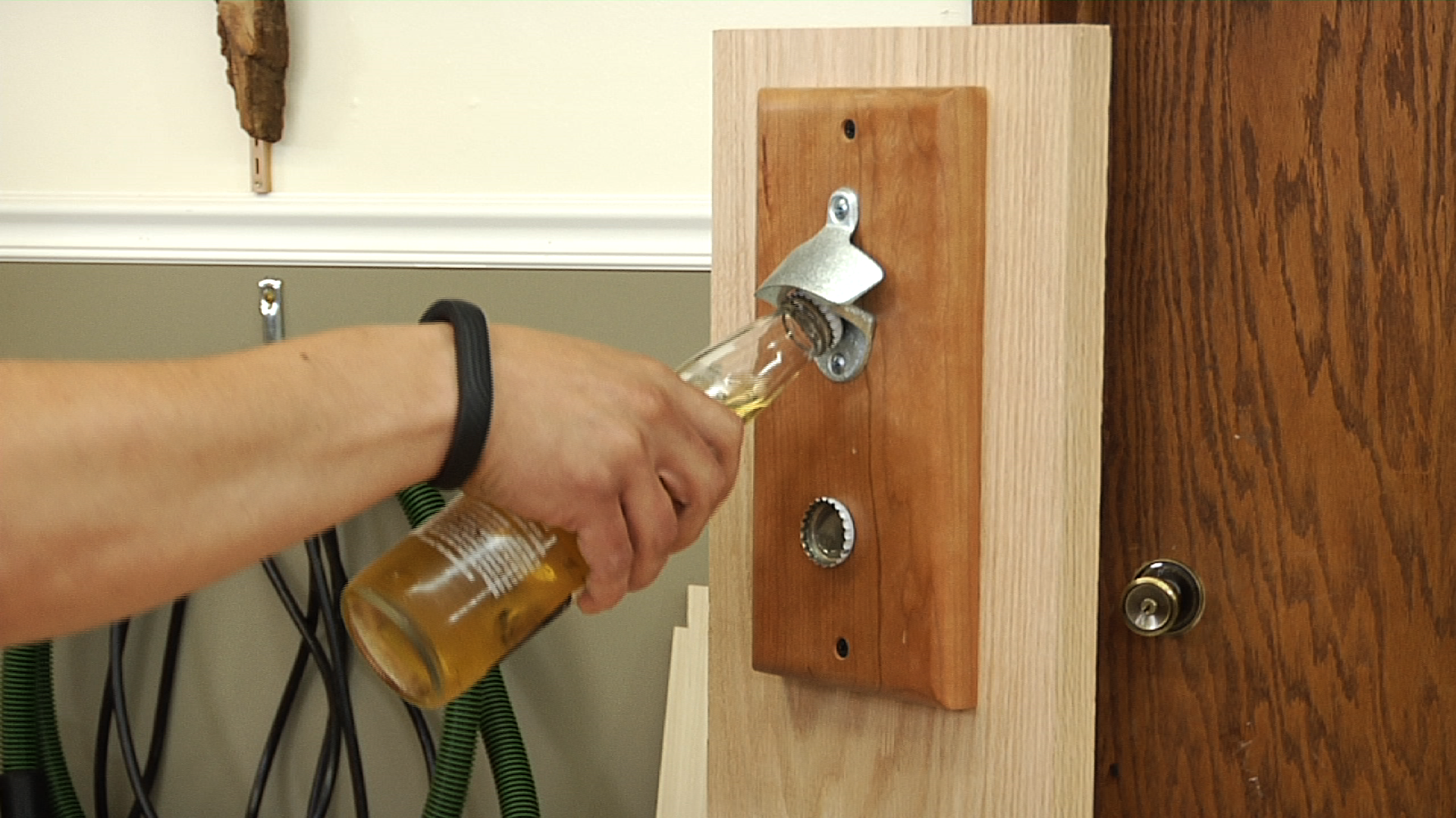 Make A Magnetic Bottle Opener With Cap Catcher Wwgoa
