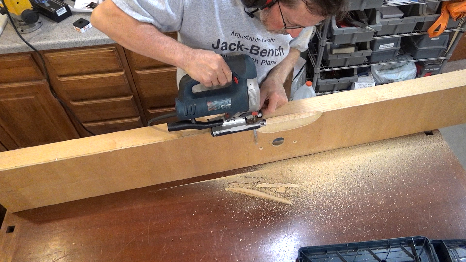 Router jig dust collection