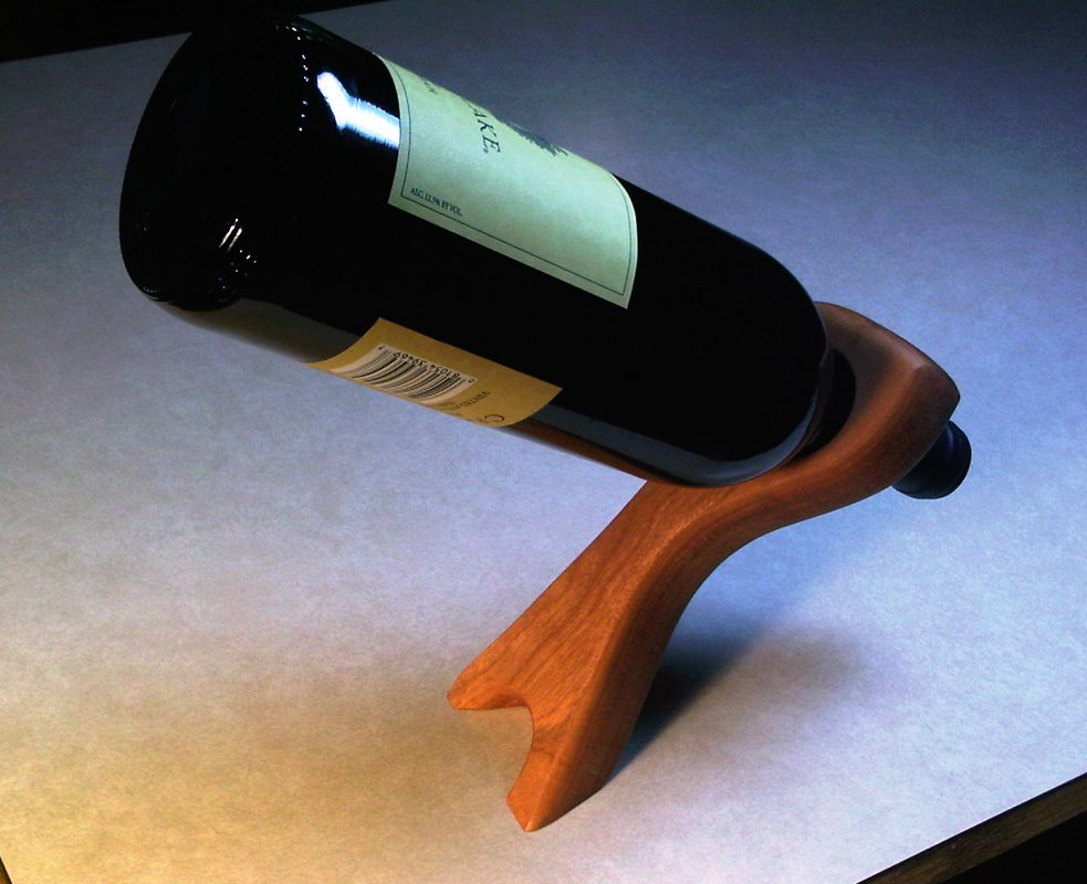 Balancing wine bottle holder plans - Wine bottle balancer plans ...