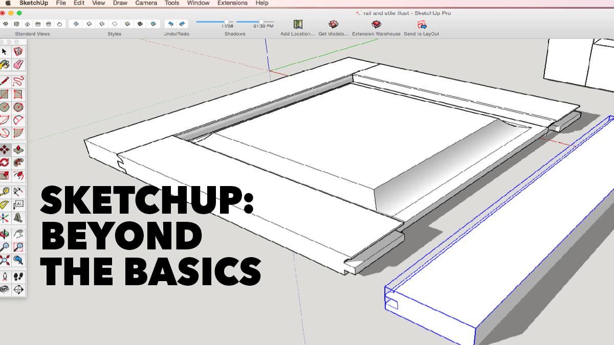 Sketchup Beyond The Basics Class DVD WoodWorkers Guild Of America