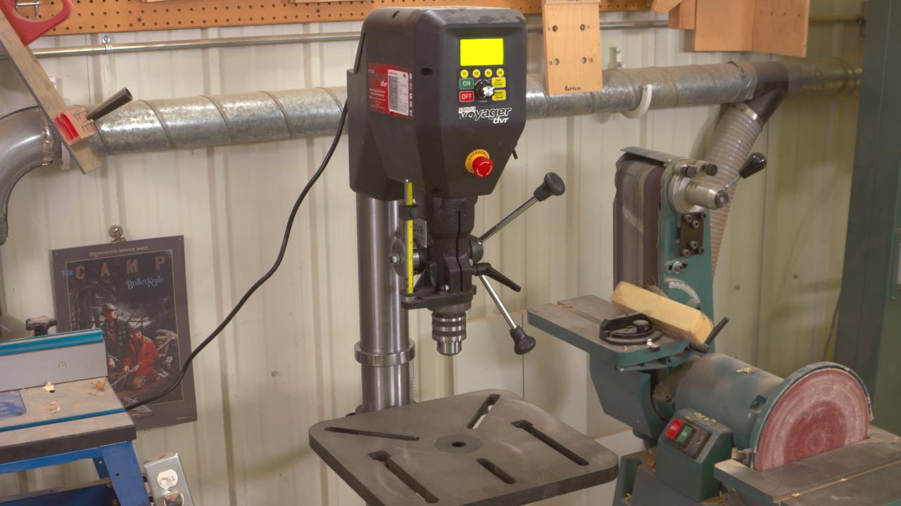 Product Review Nova Voyager Dvr Drill Press Woodworkers Guild Of