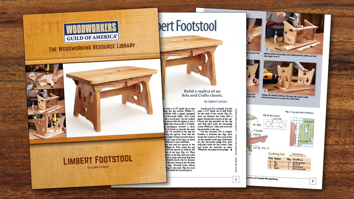 Limbert Footstool Plan