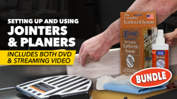 Setting Up and Using Jointers and Planers + DVD & Top Saver Kit