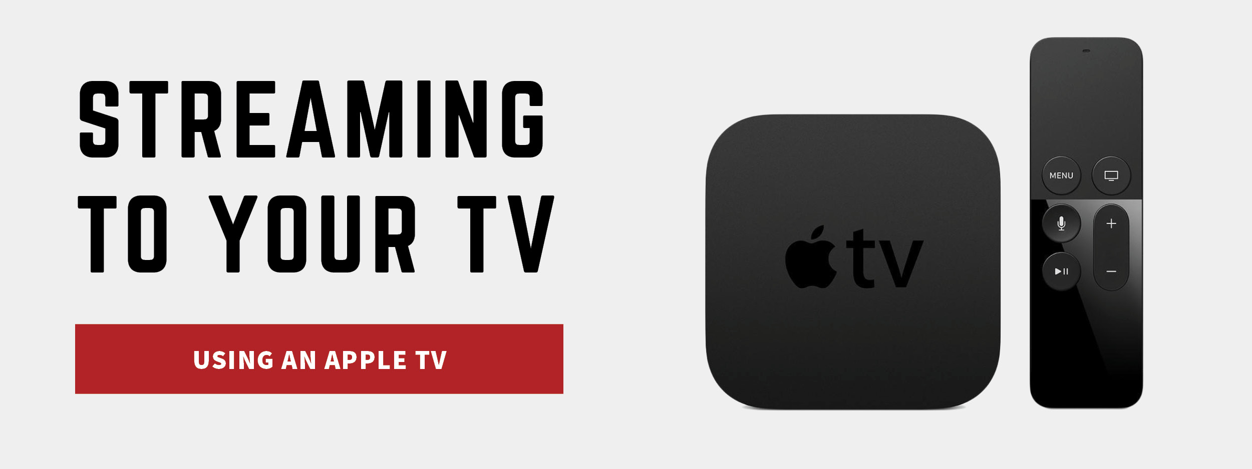 Stream using an Apple TV