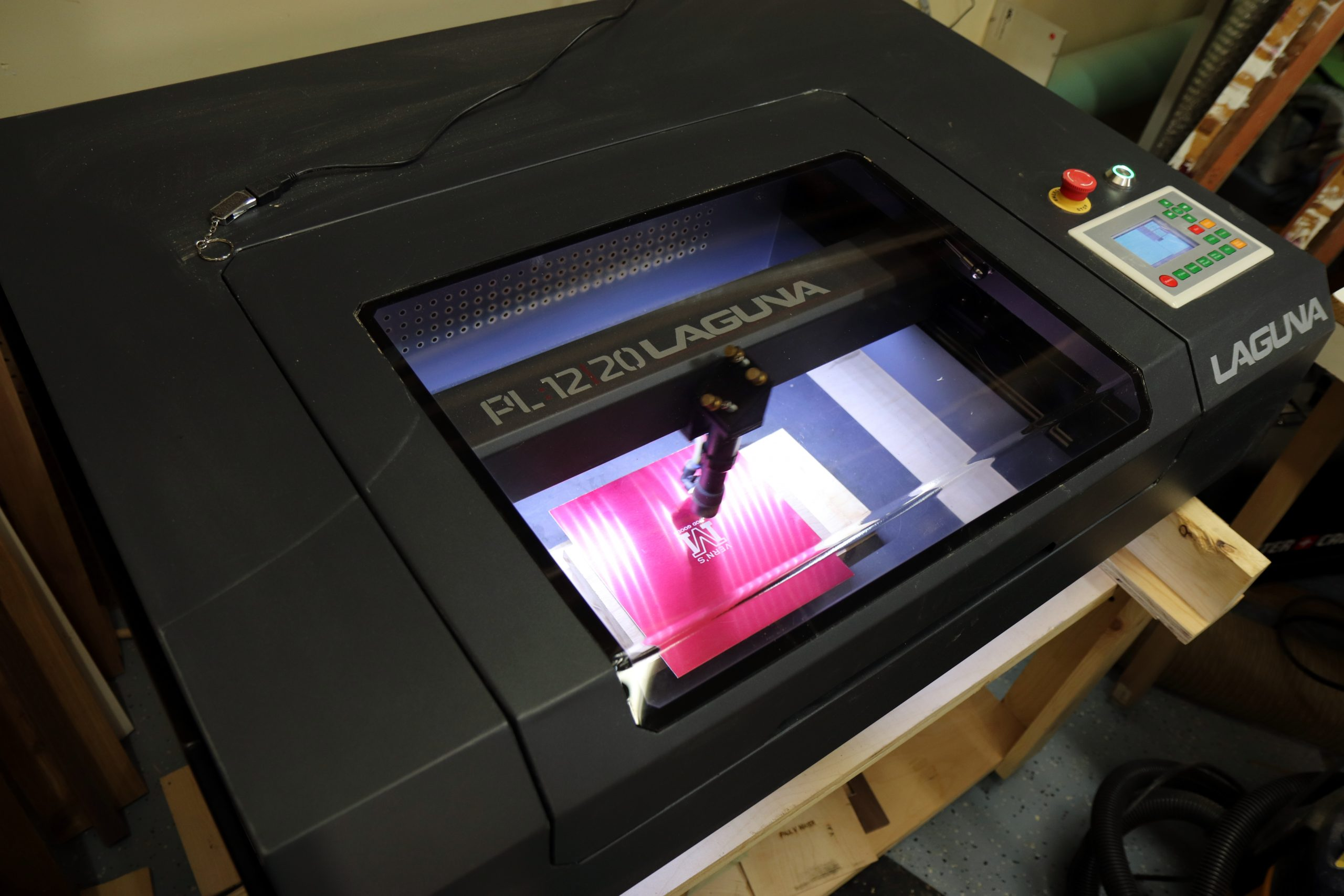 picture of a laser engraver