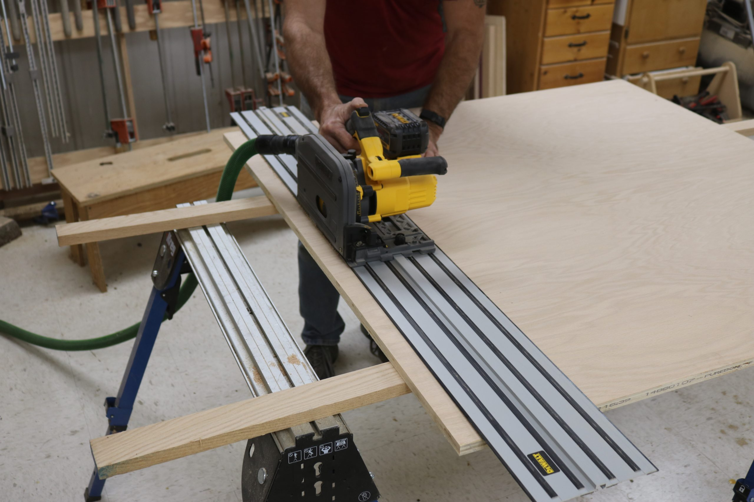 close up of a cordless tool in use