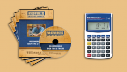 WGA D1050Q Woodworking Shop Tips and Tricks 4 DVD Set + FREE Home Project Calculator