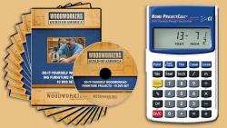 WGA D1052Q Furniture Making 10 DVD Set + FREE Home Project Calculator
