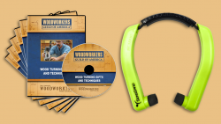 WGA D1053Q Wood Turning Gifts and Techniques 6-DVD Set + FREE hearing protection