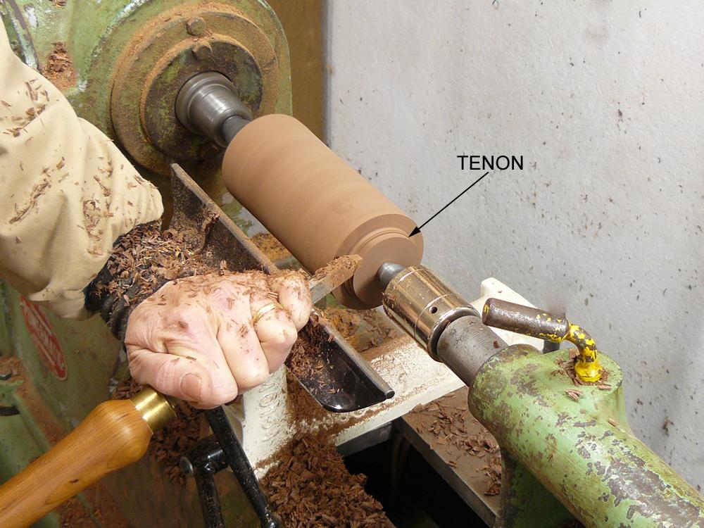 Cut Chuck Tenons