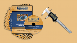 WGA D1055Q Woodworking Tricks of the Trade 9DVD Set + FREE Digital Calipers with Fractions