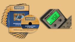 WGA D1056Q Woodworking Tricks of the Trade 7DVD Set + FREE Type 2 Digital Angle Gauge