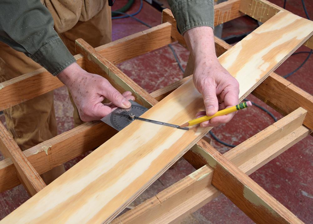 Mark angle cut on sides