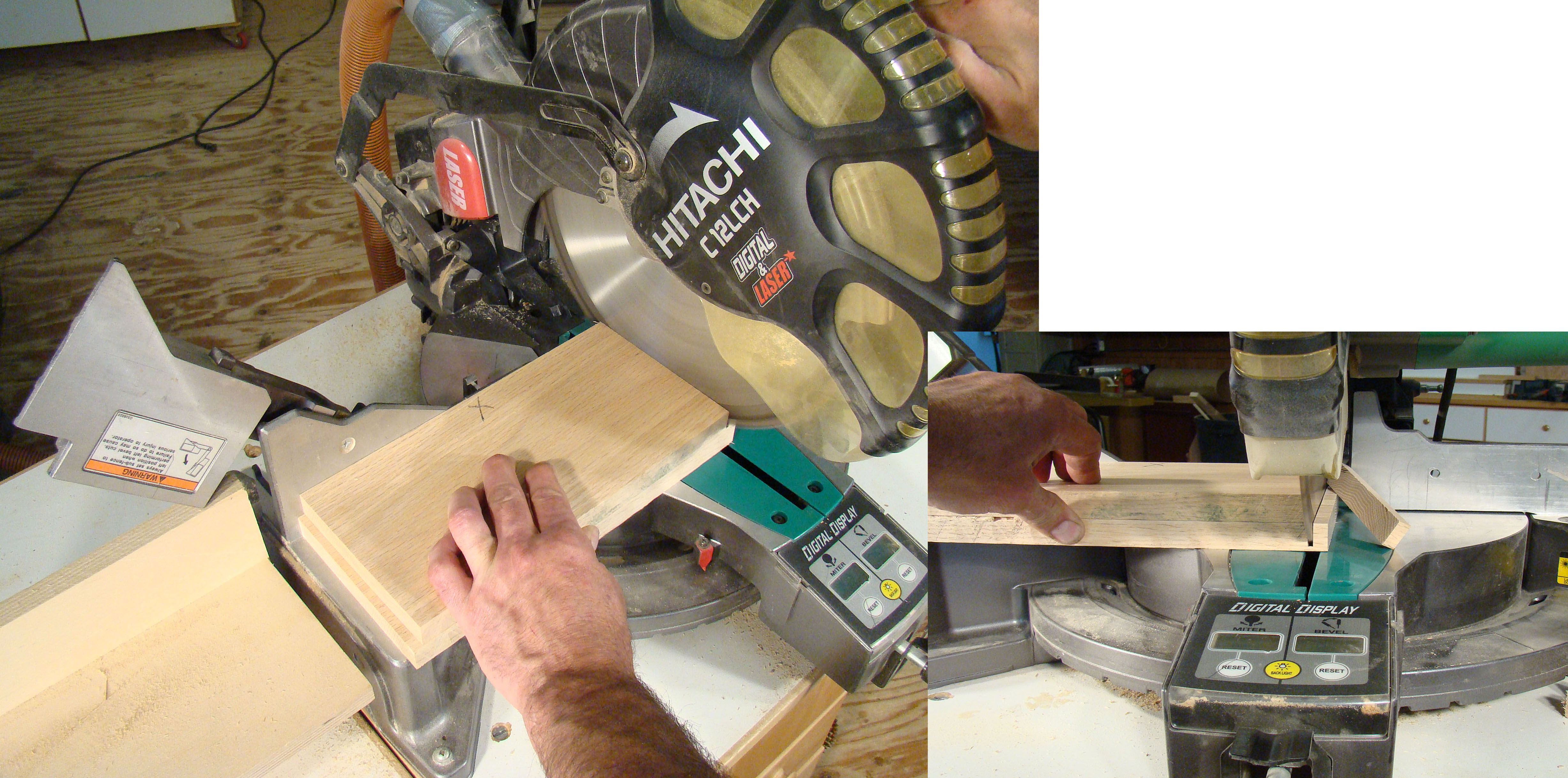 Setting up a miter saw