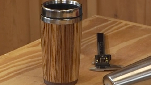 Custom Wood Travel Mug Using Stave Construction